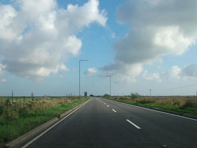 The Acle Straight (A47) in Norfolk