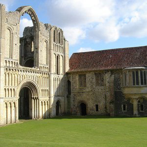 The ruins of Castle Acre Priory