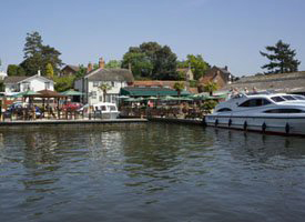 The Norfolk Broads village of Horning